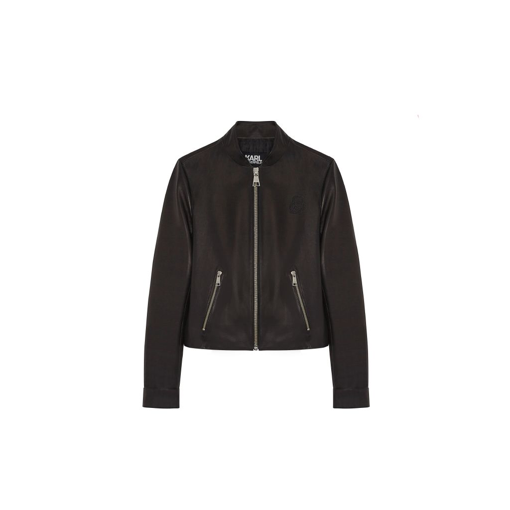 resized_KARL CROPPED LEATHER BOMBER