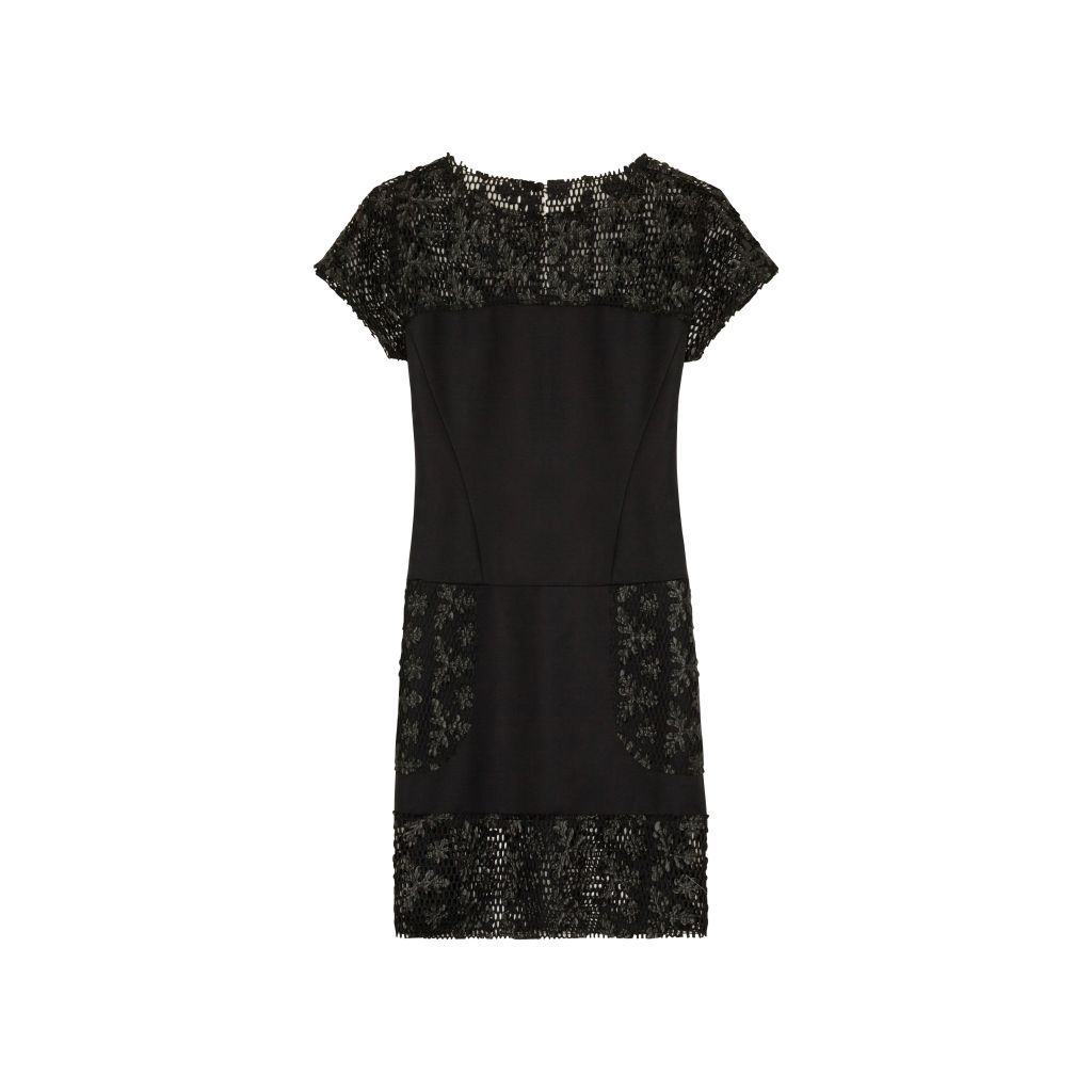 resized_KARL FLOWER NET PANALED DRESS