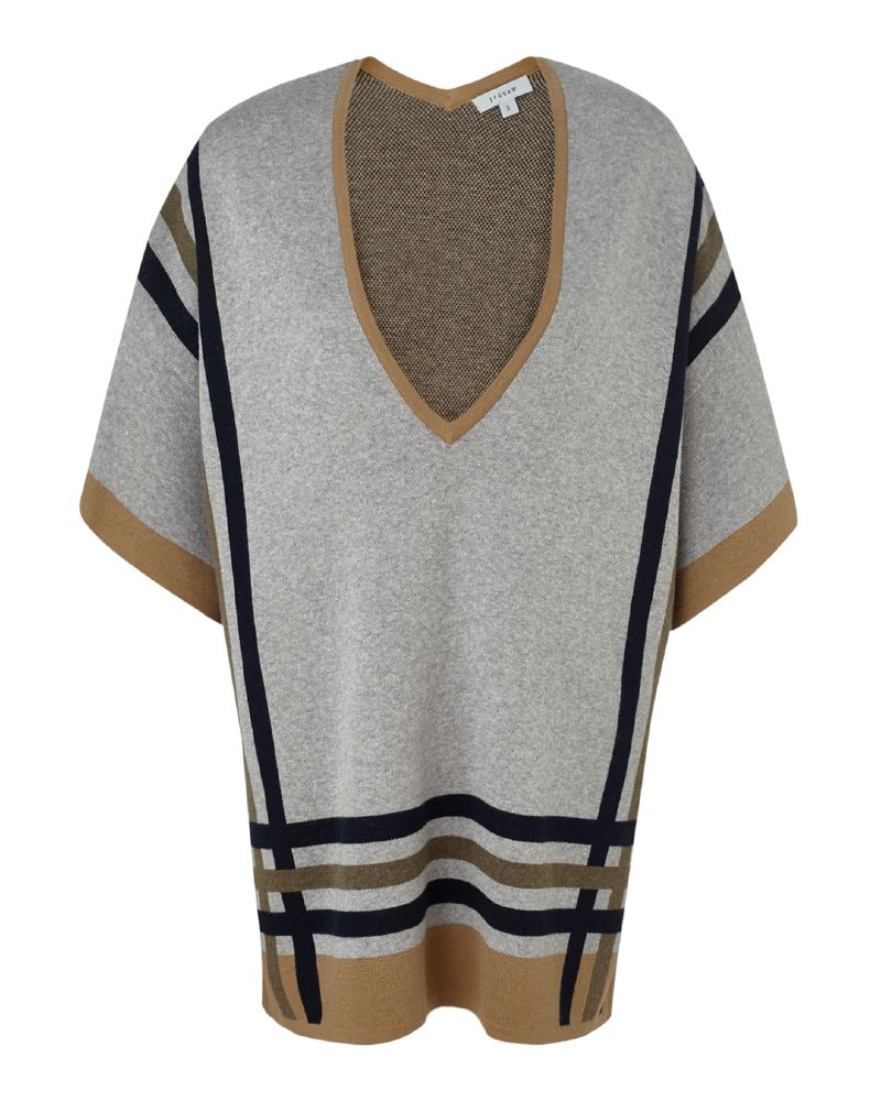 resized_STRIPE DETAIL V NECK SWEATER 730 AED