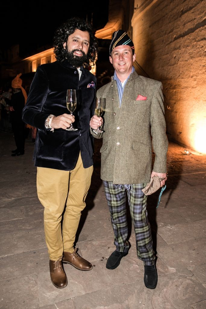 resized_Sameet Lilani & the Duke of Argyll at the Mehrangarh Fort at British Polo Day India 2015. Credit Keoma Zec