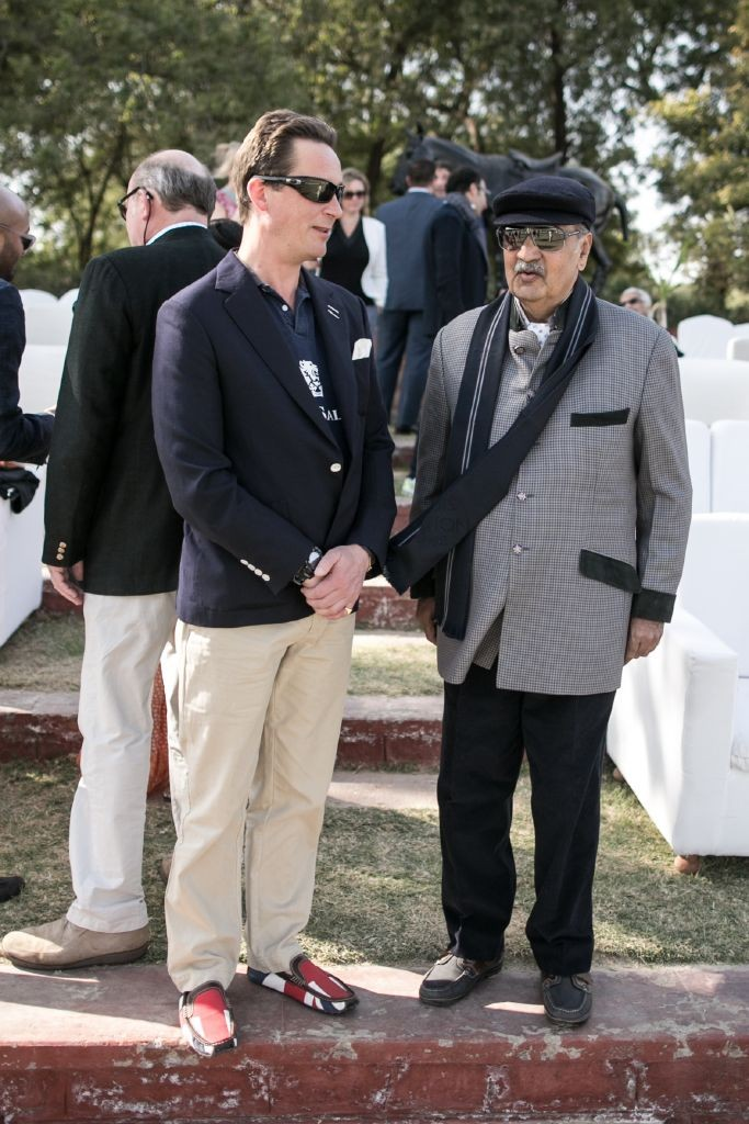 resized_The 13th Duke of Argyll & His Highness The Maharaja Gaj Singh II Of Marwar-Jodhpur at British Polo Day India 2015. Credit Keoma Zec