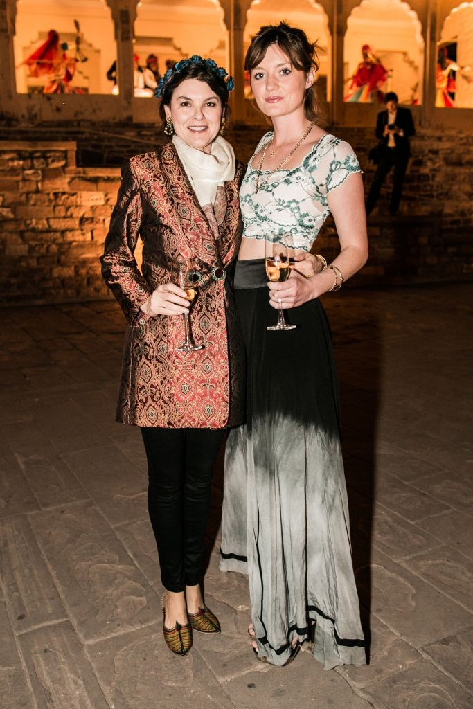 resized_The Honorable Geraldine Harmsworth and Christabel Abdy Collins at British Polo Day India 2015. Credit Keoma Zec