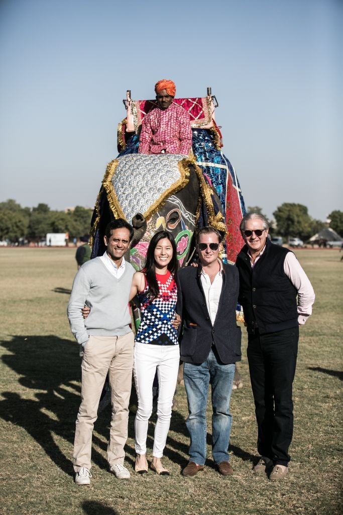 resized_Vinod Kumar, Melissa Koh, Alex de Lisle & James McBride at British Polo Day India 2015. Credit Keoma Zec