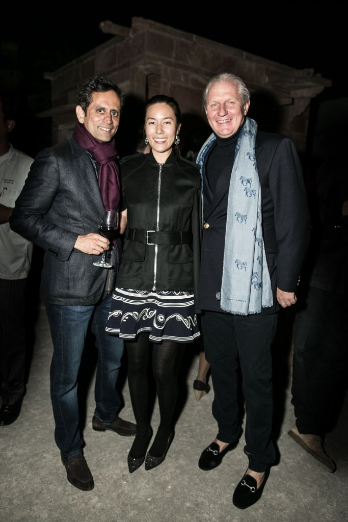 resized_Vinod Kumar, Melissa Koh & James McBride at The RAAS drinks party at British Polo Day India 2015. Photo by Keoma Zec