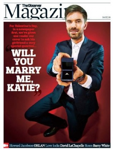 طلب زواج على غلاف أشهر المجلات البريطانية (2)