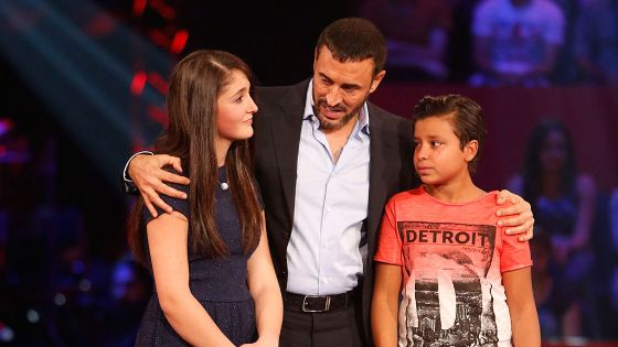 كاظم الساهر مع شيرين بو سعد ويوسف حسن