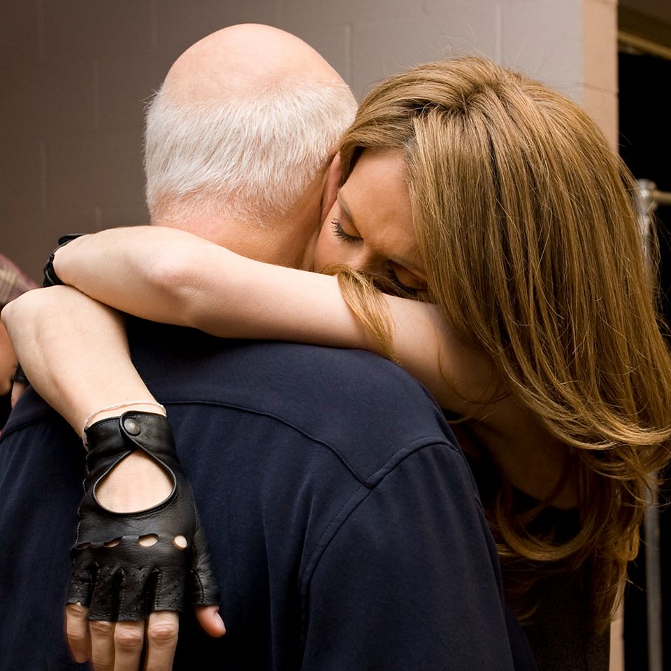 سيلين ديون مع زوجها الراحل