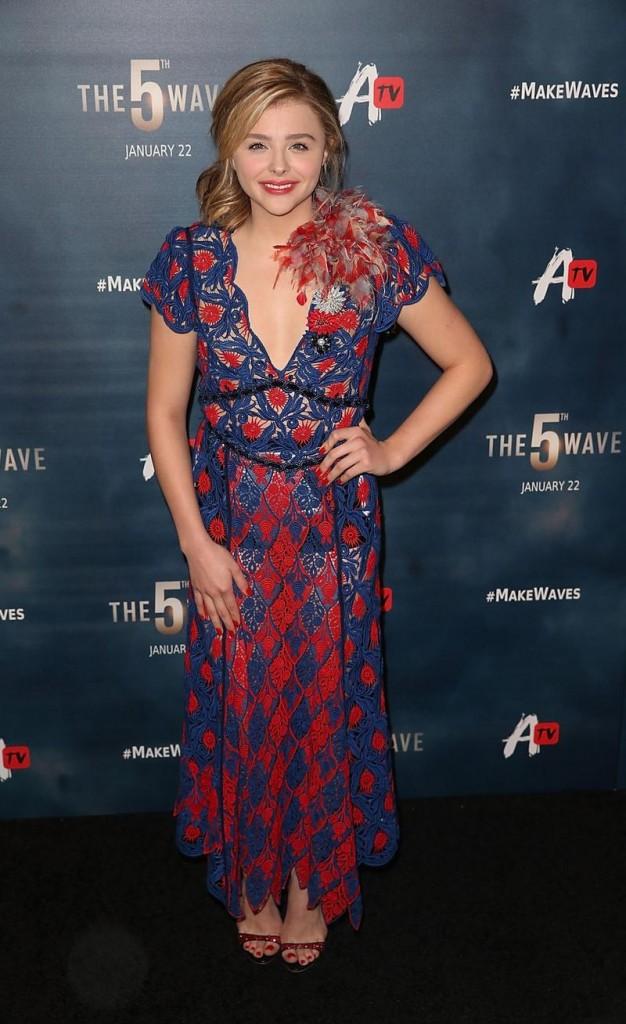 Chloe Moretz - Los Angeles premiere of The 5th Wave
