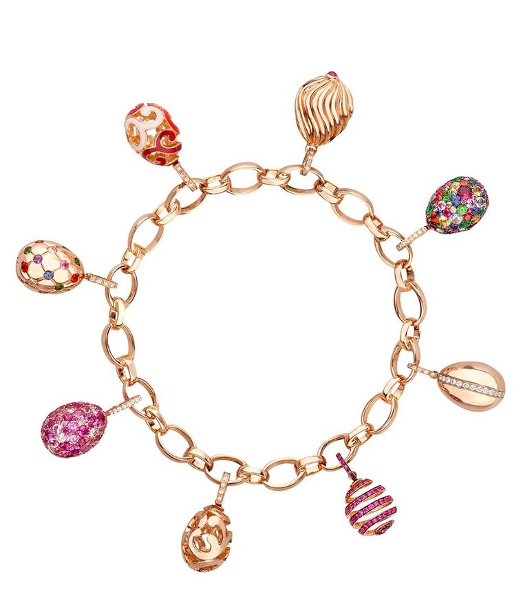 Faberge Egg Charms Bracelet