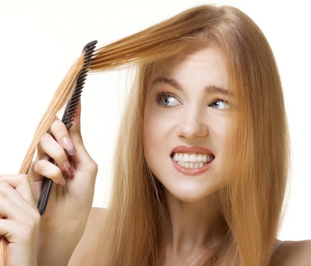 unruly hair