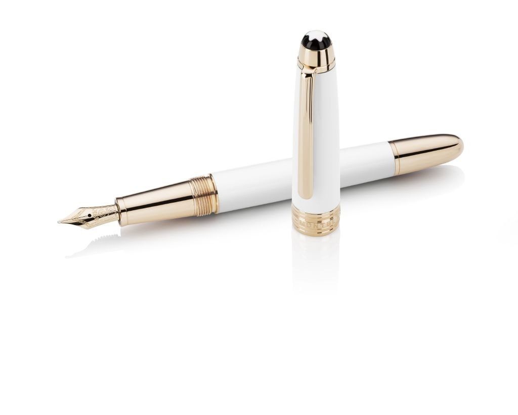 resized_Montblanc White Solitaire Fountain Pen