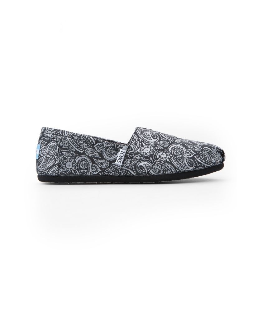 resized_Toms - Black Silver Paisley Women's Classics - AED 299 at SIVVI.com