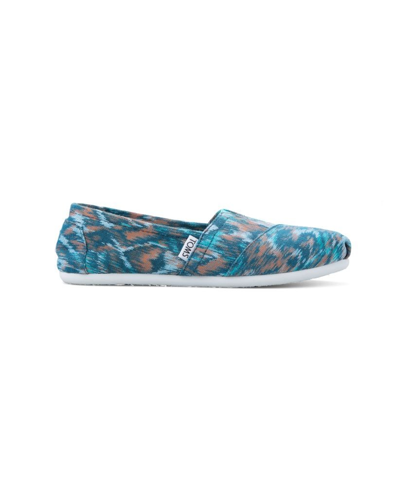 resized_Toms - Turquoise Multi Canvas Ikat Women's Classics - AED 299 at SIVVI.com