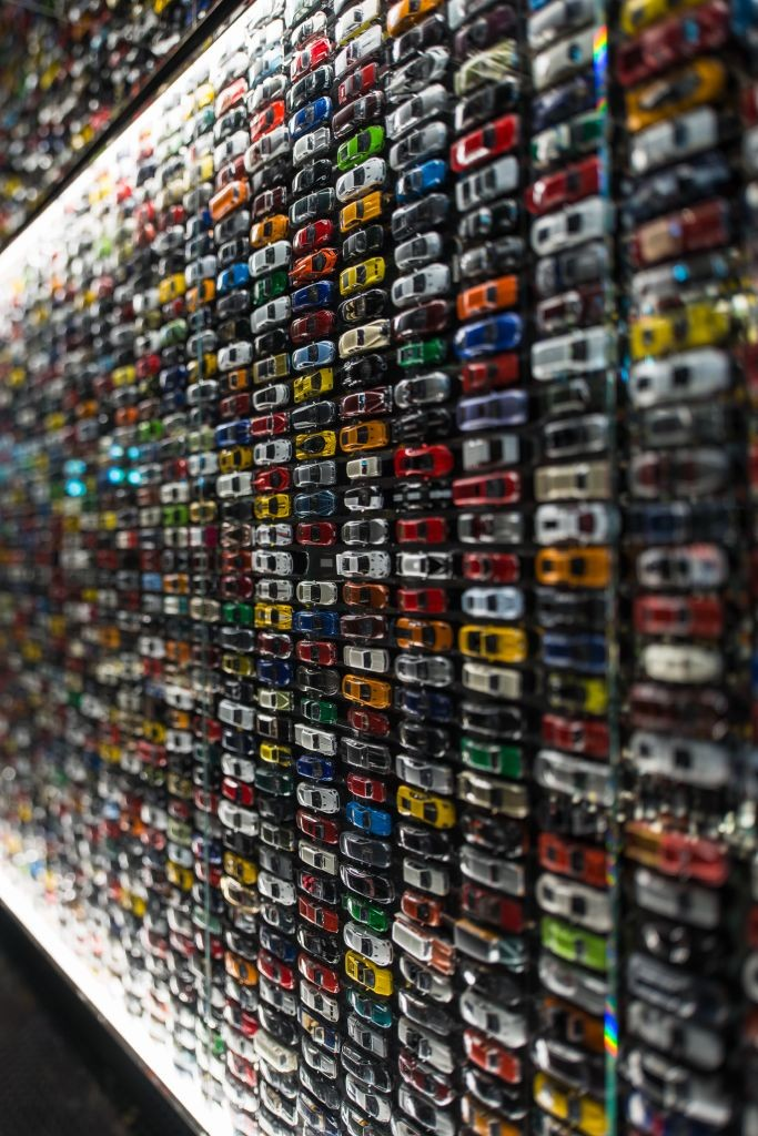 resized_Toy Car Wall in Lower Level of Intersect by Lexus