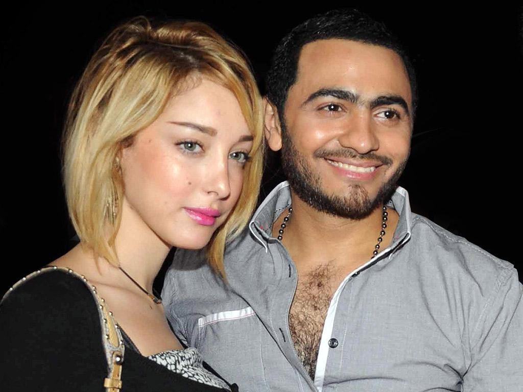 تامر حسني وبسمة بوسيل