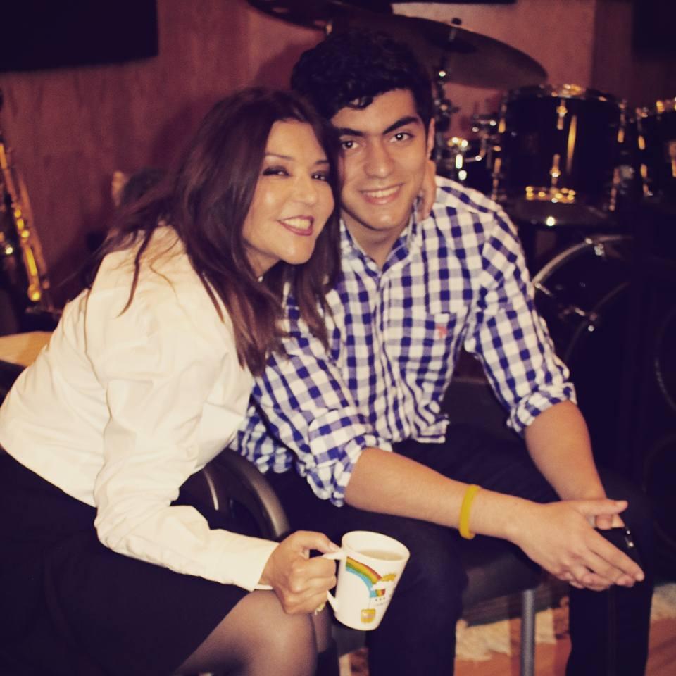 سميرة سعيد مع ابنها الوحيد شادي