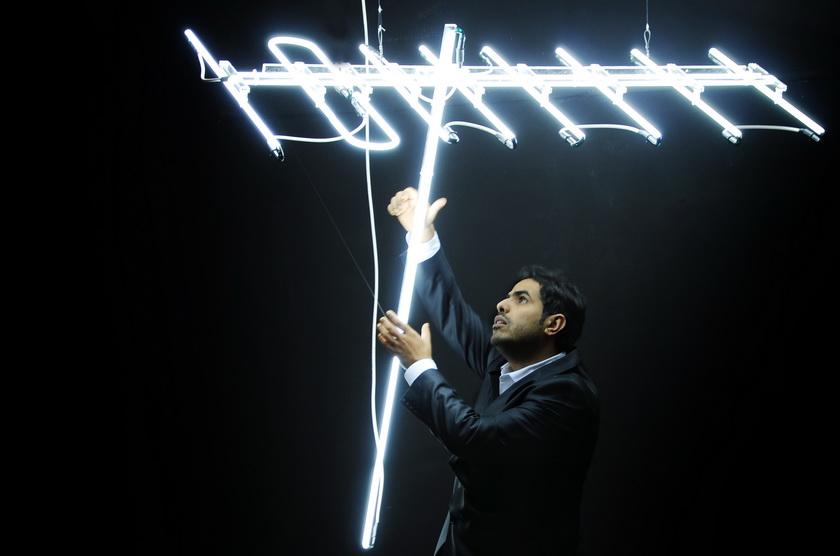 Art Jameel-Ahmed Mater Exhibition-Black Antenna