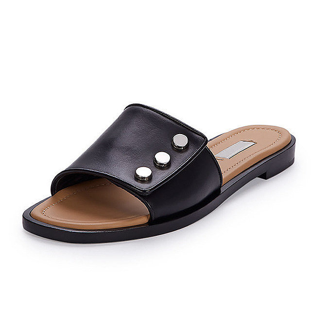 Balenciaga-Studded-Flat-Leather-Mule-535