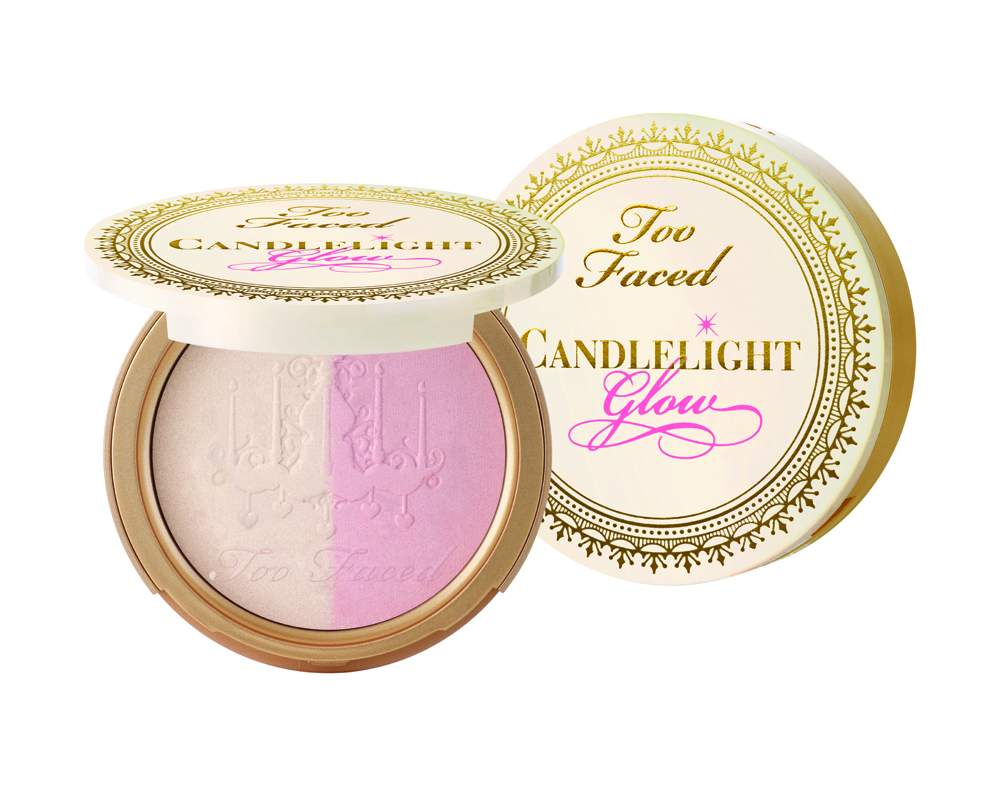 Too Faced Candlelight Glow Highlighting Powder Duo in Rosy Glow - AED 135