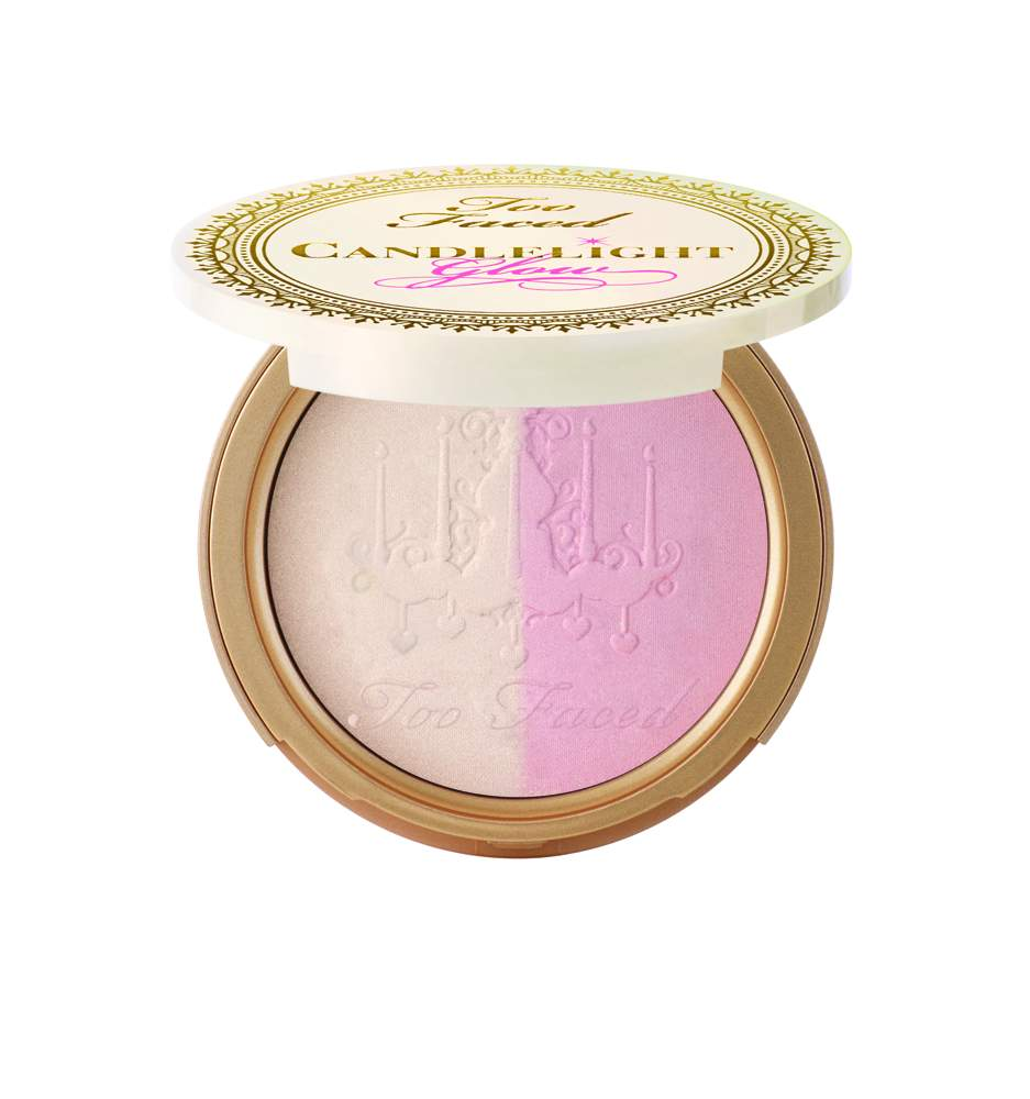 Too Faced Candlelight Glow Highlighting Powder Duo in Rosy Glow(2) - AED 135