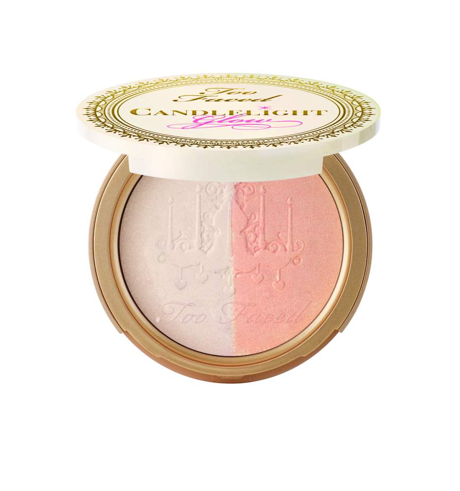 Too Faced Candlelight Glow Highlighting Powder Duo in Warm Glow(2) - AED 135