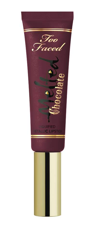 Too Faced Melted Chocolate Liquified Lipstick - Metallic Frozen Hot Chocolate - AED 106