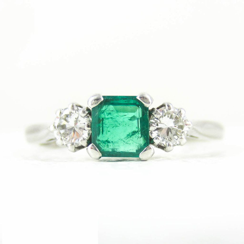 Vintage-emerald-diamond-engagement-ring-1271