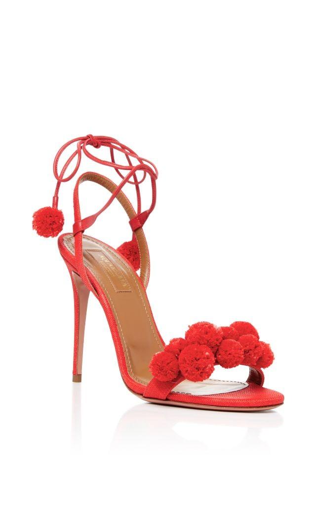 resized_AQUAZZURA Pom Pom Lace Up Sandals $795