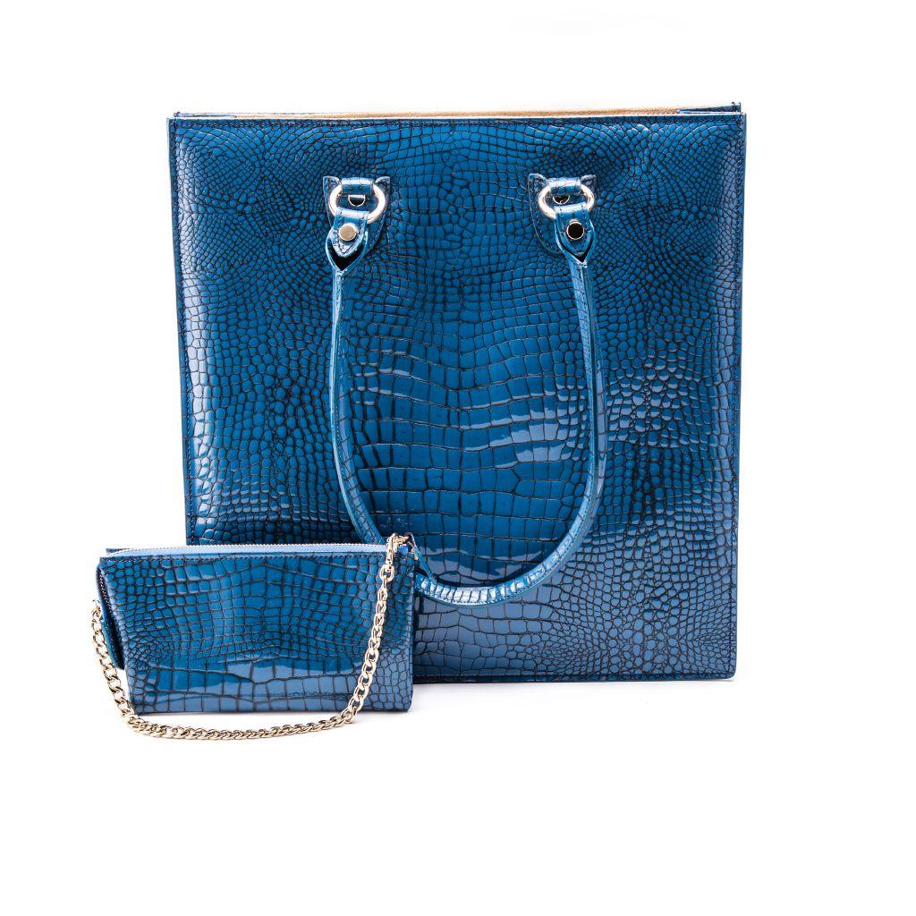 resized_Aida Tote Bag in Blue Crocodile Print_AED 4200