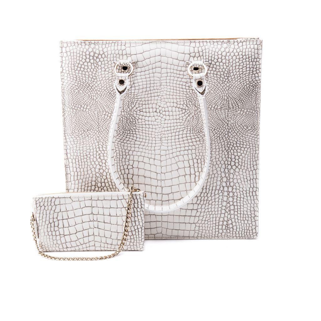 resized_Aida Tote Bag in White Crocodile Print_AED 4200