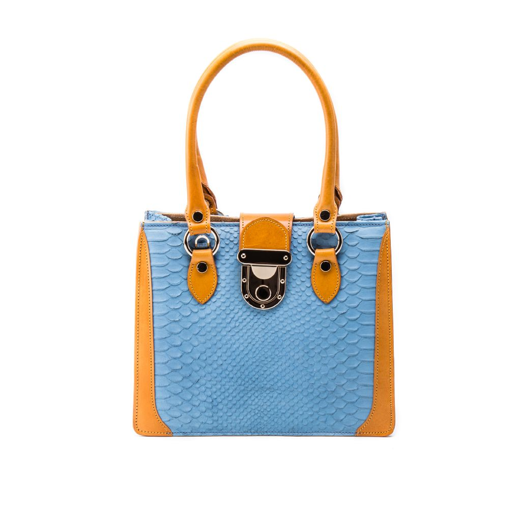 resized_Gemma Tote in Blue Caramel Crocodile Print_AED 4200