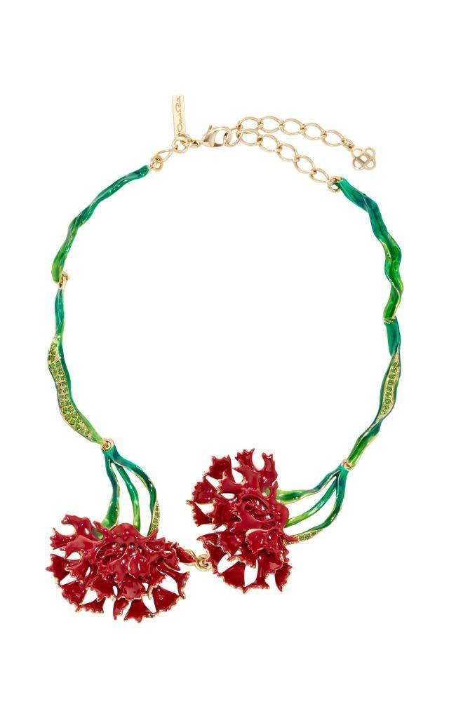 resized_OSCAR DE LA RENTA Beaded Carnation Necklace $790