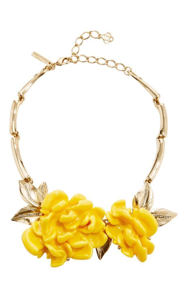 resized_OSCAR DE LA RENTA Oversized Resin Flower Necklace $690