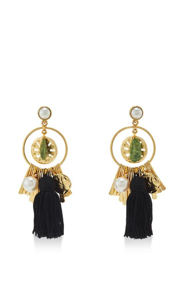 resized_OSCAR DE LA RENTA Tassel Charm Pearl Earrings $490