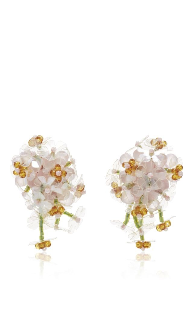 resized_SIMONE ROCHA Floral Beaded Clip On Earrings $325
