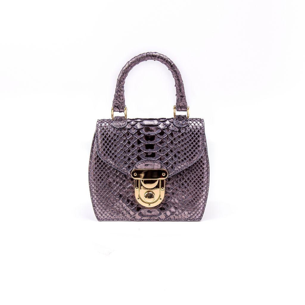 resized_Sienna Flapbag in Grey Metallic Python Print_AED 7000