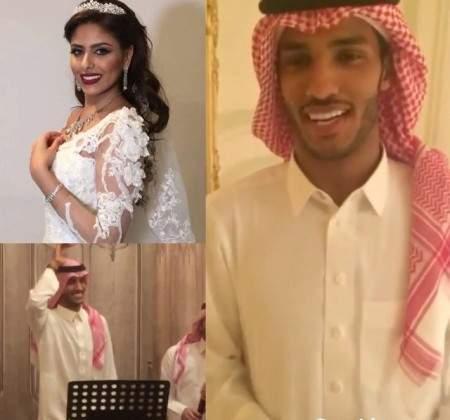 زواج نايف هزازي من المذيعة رقية خياط