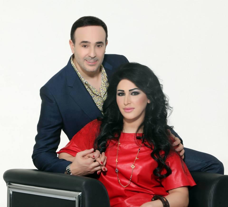صابر الرباعي وزوجته