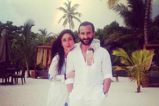 كارينا كابور بصحبة زوجها الممثل سيف علي خان