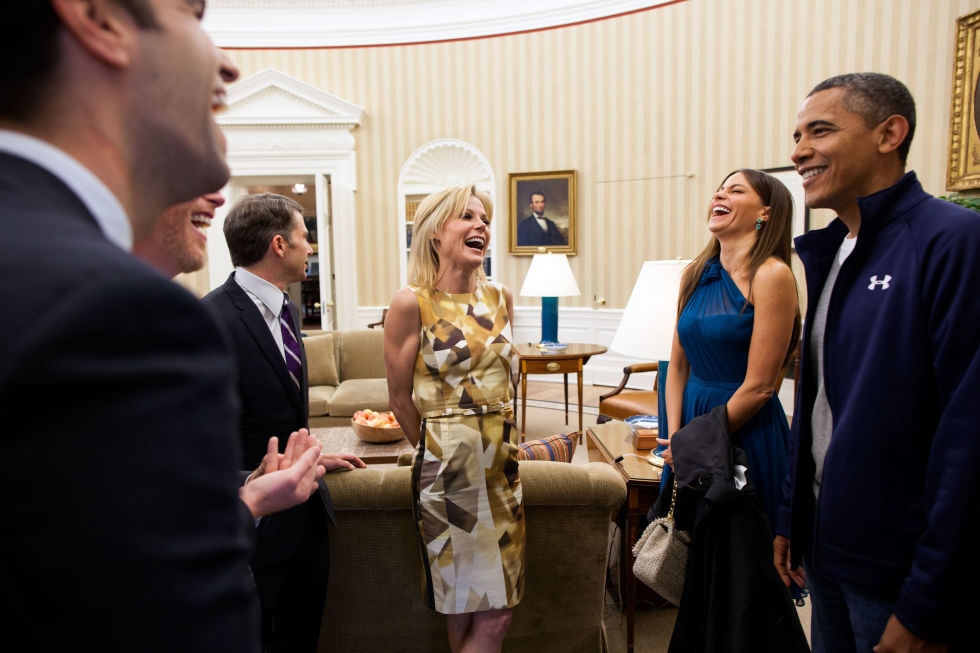 Barack Obama, Julie Bowen, and Sofia Vergara