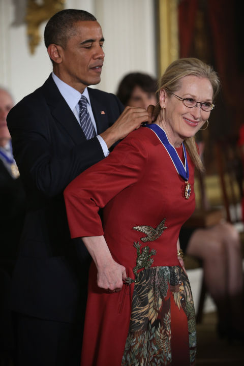 Barack Obama and Meryl Streep