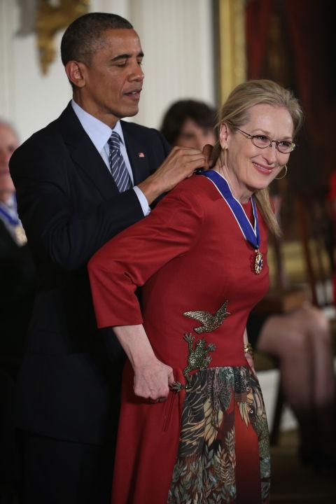 Barack Obama and Meryl Streep