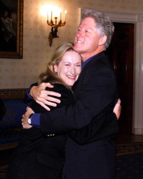 Bill Clinton and Meryl Streep