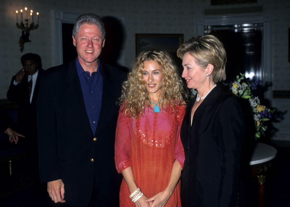 Bill Clinton and Sarah Jessica Parker