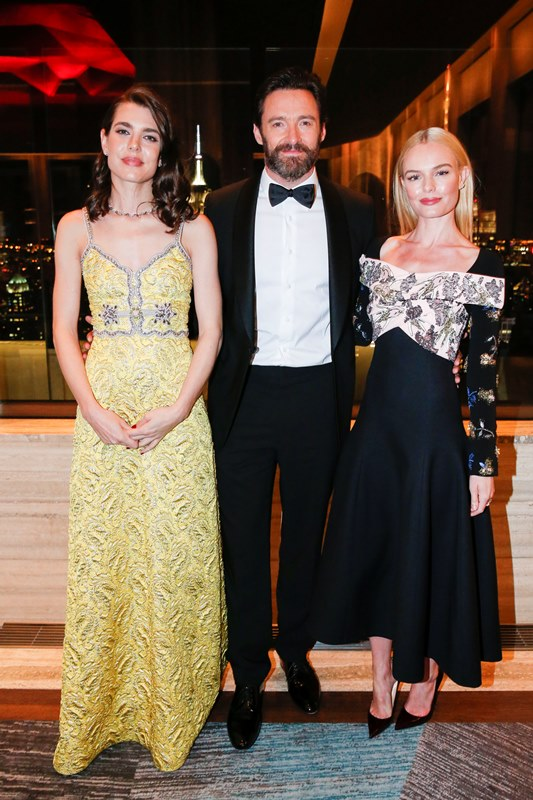 Brand Ambassadors Charlotte Casiraghi and Hugh Jackman with actress Kate Bosworth