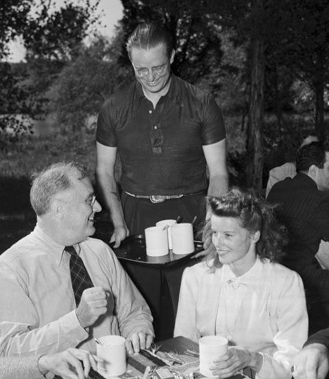Franklin D. Roosevelt and Katharine Hepburn