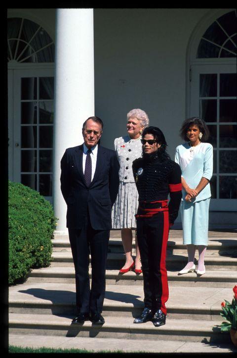George H.W. Bush and Michael Jackson