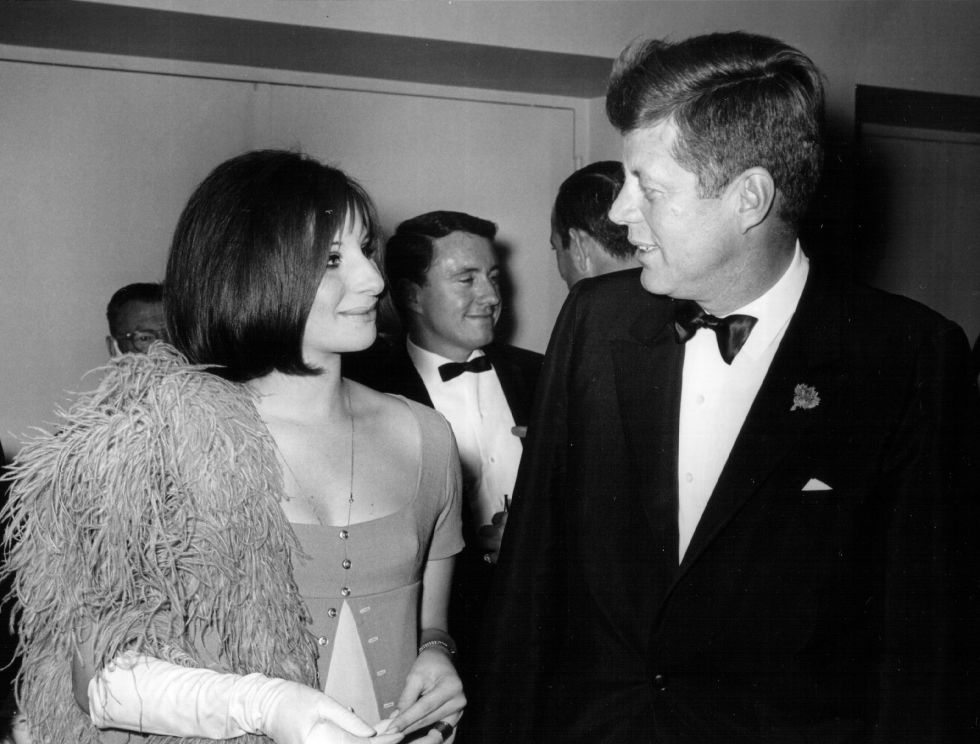 John F. Kennedy​ and ​Barbra Streisand