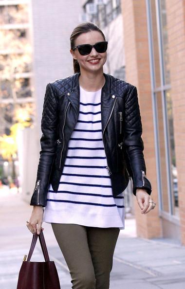 Miranda Kerr's Nautical Stripes