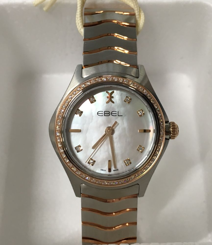 resized_EBEL Wave Lady Quartz Steel & Pink Gold 1216325